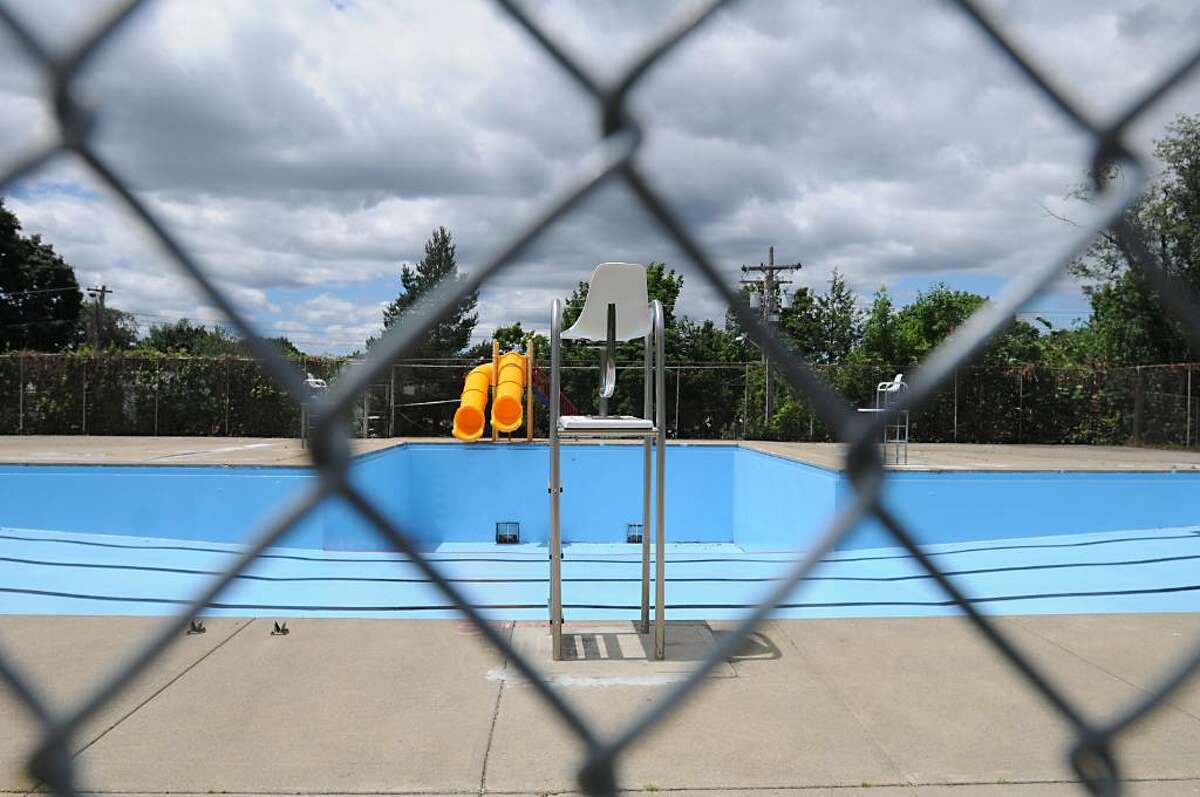 The Knickerbacker Pool has not opened for the season yet in Lansingburgh after a swim-related death closed it last July. The Troy facility is awaiting a county permit. (Lori Van Buren / Times Union)