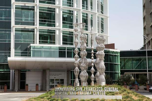 The entrance of the Zuckerberg San Francisco General Hospital and Trauma Center is seen in San Francisco, Calif., on Tuesday, April 26, 2016.