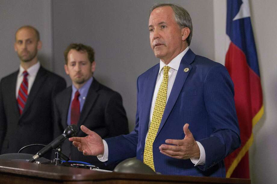 Texas Attorney General Ken Paxton speaks at a press conference on May 1, 2018. (Stephen Spillman / for Express-News) Photo: Stephen Spillman / Stephen Spillman / stephenspillman@me.com Stephen Spillman