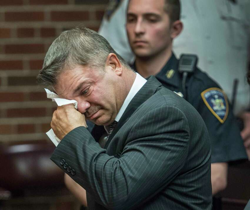 John Cole breaks down in tears as he addresses the Court during his sentencing Friday May 11, 2018 in Saratoga County Court in Ballston Spa, N.Y. (Skip Dickstein/Times Union)