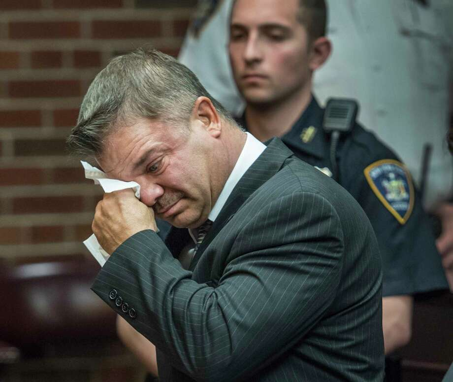 John Cole breaks down in tears as he addresses the Court during his sentencing Friday May 11, 2018 in Saratoga County Court in Ballston Spa, N.Y.  (Skip Dickstein/Times Union) Photo: SKIP DICKSTEIN / 20043691A