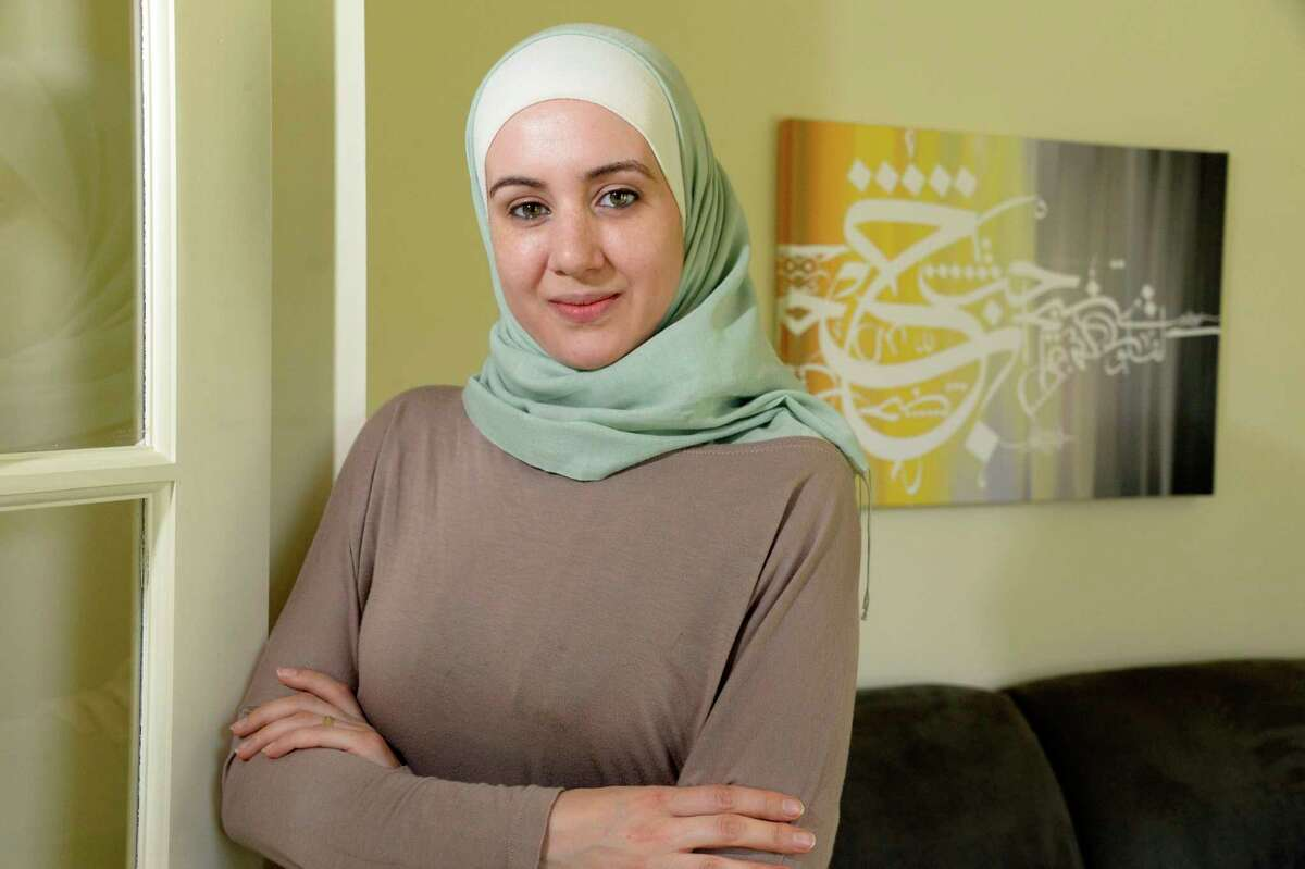 Sirin Hamsho inside at her home Wednesday May 9, 2018 in Niskayuna, NY. (John Carl D'Annibale/Times Union)