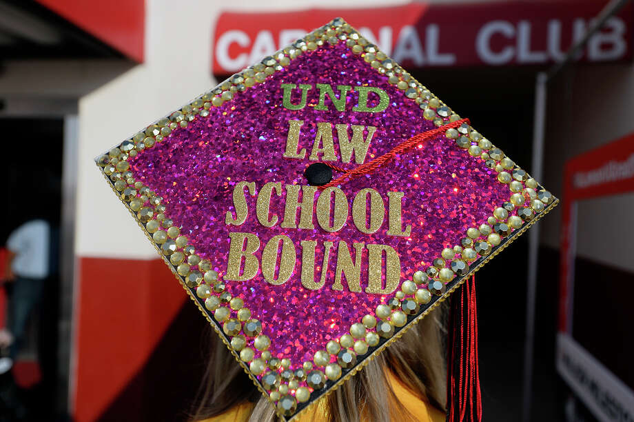 A graduate's decorated cap before Lamar University's commencement ceremony.  Photo taken Friday 5/11/18 Ryan Pelham/The Enterprise Photo: Ryan Pelham / ©2018 The Beaumont Enterprise/Ryan Pelham