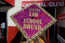 A graduate's decorated cap before Lamar University's commencement ceremony.  Photo taken Friday 5/11/18 Ryan Pelham/The Enterprise