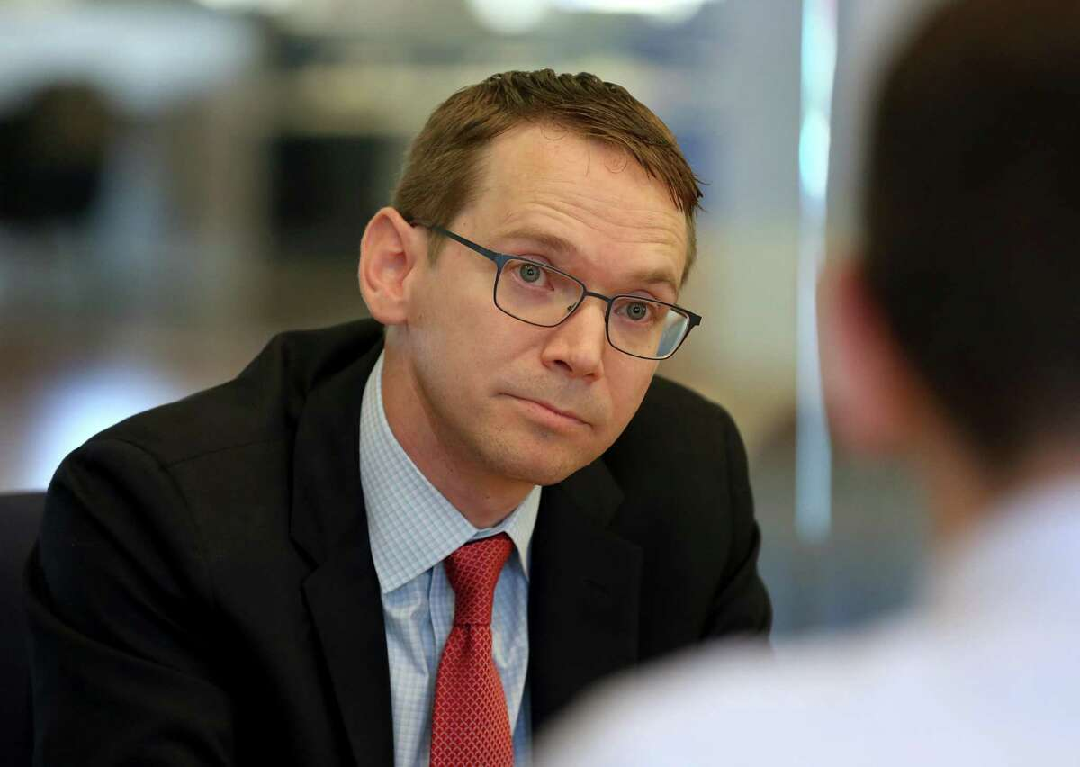 Texas Education Agency Commissioner Mike Morath speaks with the Houston Chronicle's editorial board about the looming state action against Houston ISD Wednesday, May 9, 2018, in Houston. ( Godofredo A. Vasquez / Houston Chronicle )