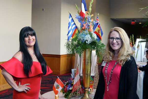 Vanessa Iglesias and Debbie Bridgeman at the Beaumont ISD Teacher of the Year Gala. Photo taken Friday 5/11/18 Ryan Pelham/The Enterprise