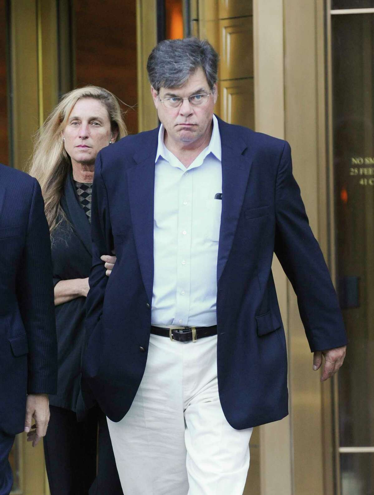 Peter Galbraith Kelly Jr., a chief lobbyist for a power company that arranged to donate a private jet to fly Andrew Cuomo during his campaign for New York governor, leaves Federal District Court in New York, Sept. 22, 2016. Cuomo makes only cameo appearances in a federal complaint announced on Thursday that outlines a corruption scheme involving an ally, a former close aide and donors of his. (Louis Lanzano/The New York Times) ORG XMIT: XNYT152