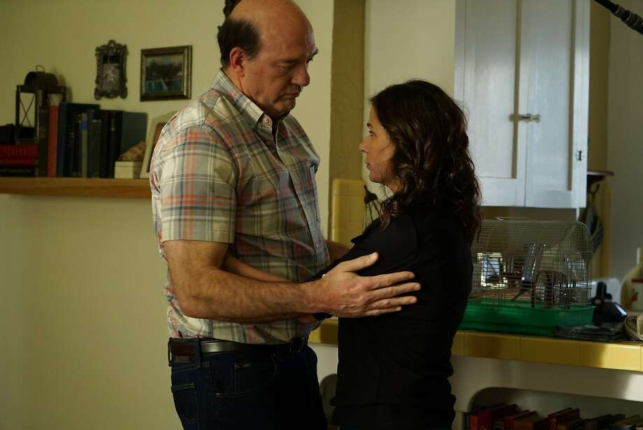 """Early (John Carroll Lynch) is a recently widowed man in """"Anything,"""" and Laurette (Maura Tierney) is his sister. Photo: Great Point Media And Paladin"""