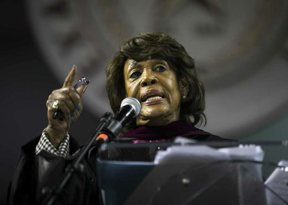 Congresswoman Maxine Waters speaks during Texas Southern University's Thurgood Marshall School 2018 Hooding Ceremony on Friday, May 11, 2018. (Annie Mulligan/Freelance) Photo: Annie Mulligan, Freelance / Annie Mulligan / @ 2018 Annie Mulligan
