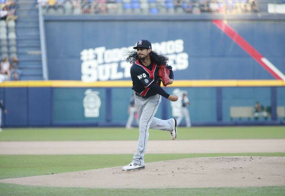 Tecolotes pitcher Terance Marin left with a lead at first-place Monterrey Friday night, but the bullpen allowed three in the eighth in a 5-3 loss. The Tecos have now lost 13 of their last 15 games. Photo: Courtesy Of The Tecolotes Dos Laredos