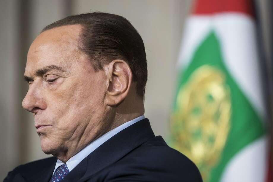 Silvio Berlusconi, leader of the Forza Italia party, had been barred from seeking public office. Photo: Giulio Napolitano / Bloomberg News