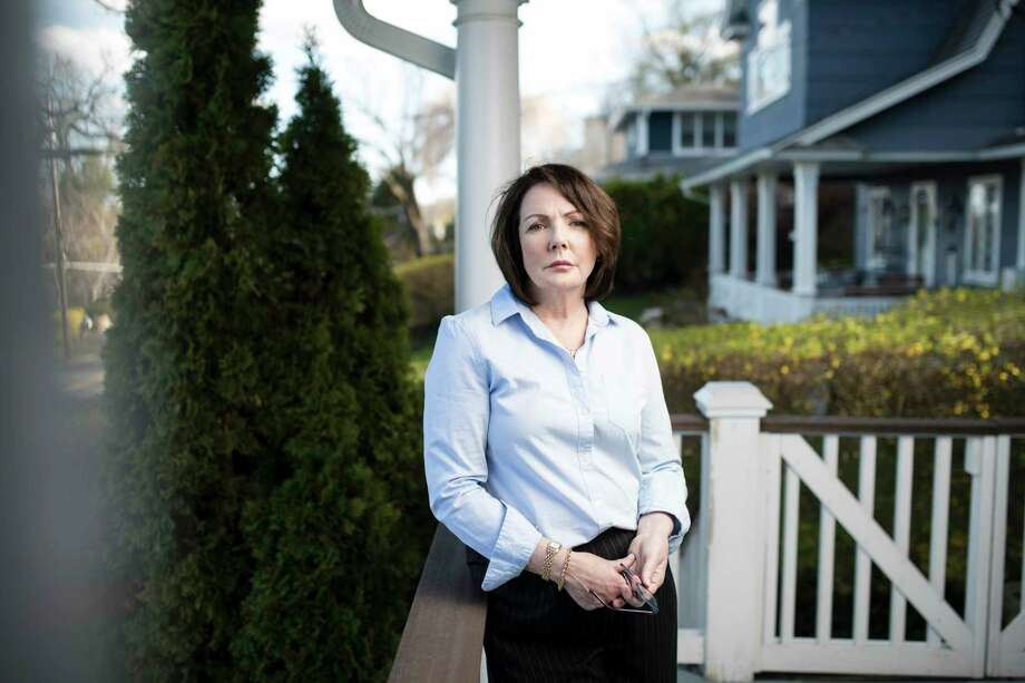 """Patricia Gunning, a state employee who was verbally abuse when she confronted the """"frat-house culture"""" at her workplace, at home in Orangetown, N.Y., April 26, 2018. Bringing a sex harassment complaint in New York state government can be a confusing process, with no uniformity on which agency handles the matter. Photo: KARSTEN MORAN, New York Times / NYTNS"""