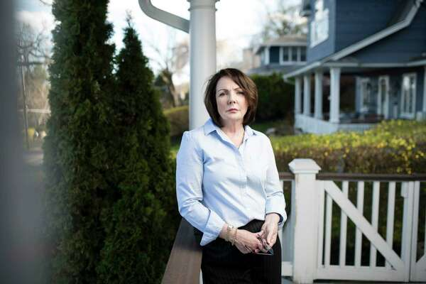 """Patricia Gunning, a state employee who was verbally abuse when she confronted the """"frat-house culture"""" at her workplace, at home in Orangetown, N.Y., April 26, 2018. Bringing a sex harassment complaint in New York state government can be a confusing process, with no uniformity on which agency handles the matter."""