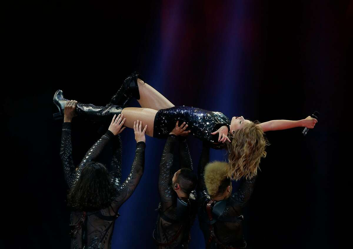 Taylor Swift in concert during her