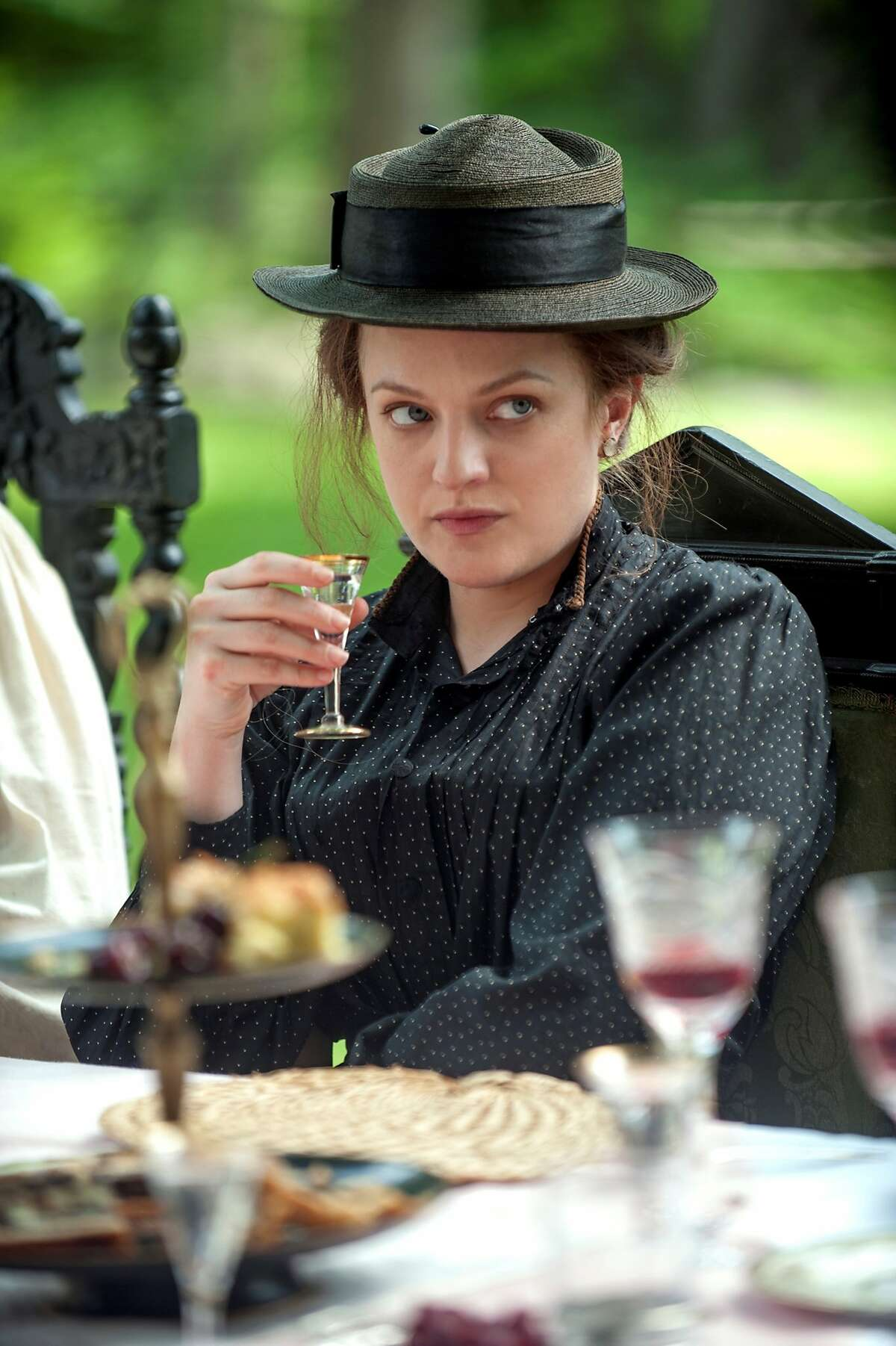 """This image released by Sony Pictures Classics shows Elisabeth Moss in a scene from """"The Seagull."""" (Abbott Genser/Sony Pictures Classics via AP)"""