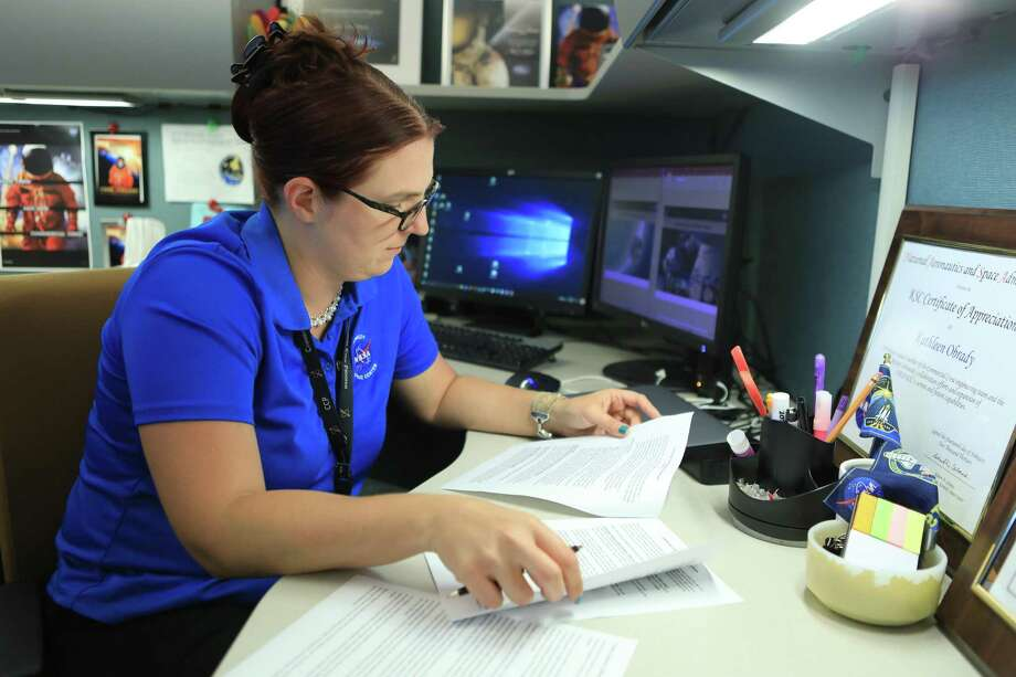 Norwalk native Kathleen O'Brady at work at NASA in Florida. She was nominated for an Early Career Stellar Award for her work certifying two new crew transportation systems: Boeing's Starliner and SpaceX's Crew Dragon. Photo: Contributed Photo / See Rights Usage Terms