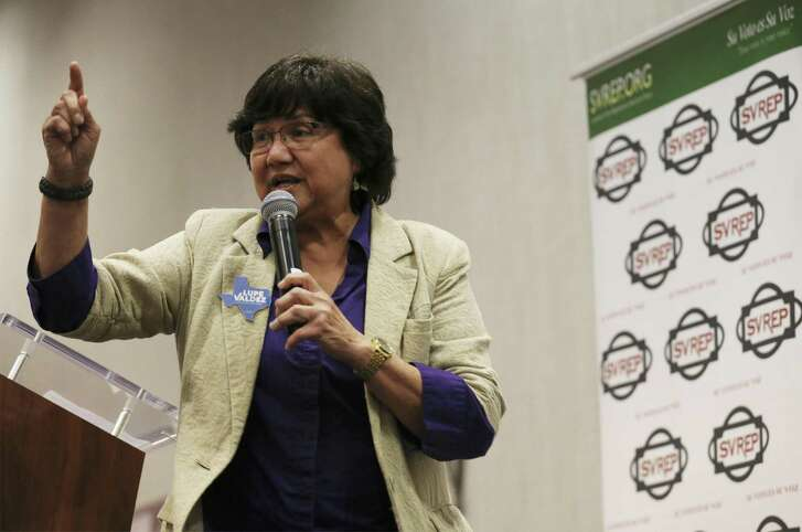 Democratic gubernatorial candidate Lupe Valdez, seen in San Antonio on May 9, says health care will get much-needed attention once she's in charge
