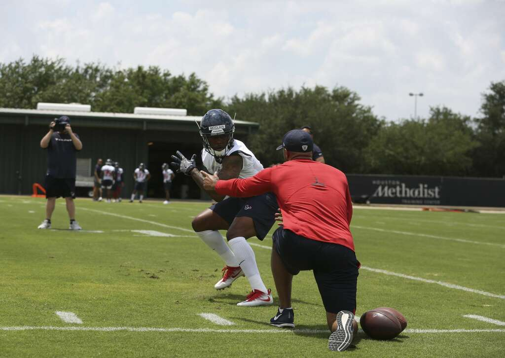 The Houston Texans rookie safety Kishawn McClain follows a coaching staff's instruction during a training at the 2018 Houston Texans Rookie Minicamp on Saturday, May 12, 2018, in Houston. ( Yi-Chin Lee / Houston Chronicle ) Photo: Yi-Chin Lee/Houston Chronicle