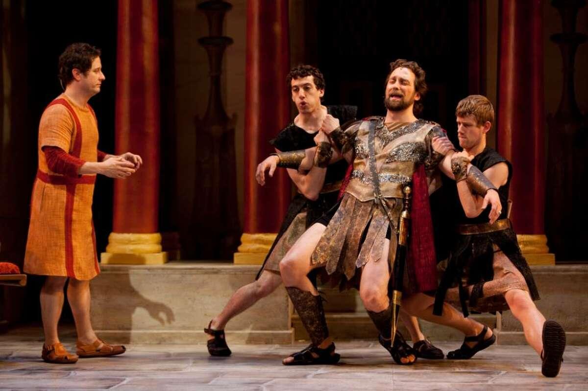 Christopher Fitzgerald, Adam Lerman, Graham Rowat, Zackary Grady in Williamstown Theatre Festival's