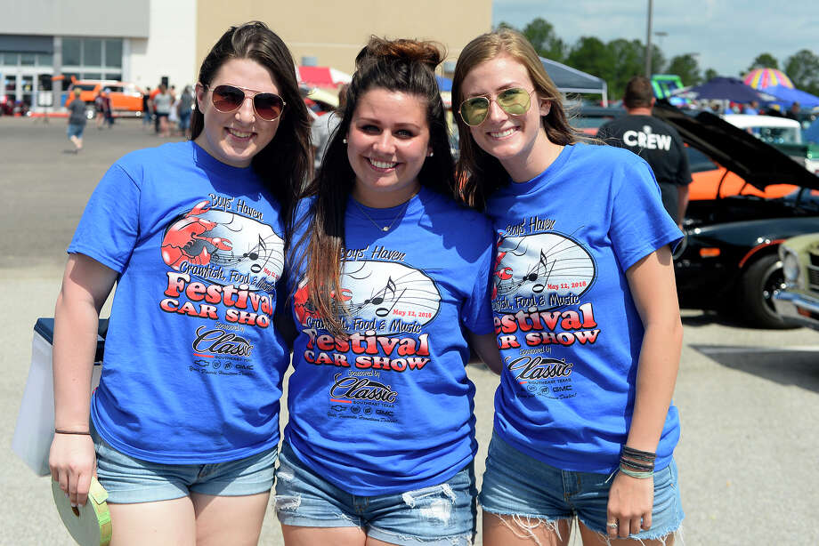 Kelsey Collier, Hannah Hernandez and Kayla Smith at Boys Haven's 33rd Annual Crawfish Food & Music Festival on Saturday, May 12.  Photo taken Saturday 5/12/18 Ryan Pelham/The Enterprise Photo: Ryan Pelham / ©2018 The Beaumont Enterprise/Ryan Pelham
