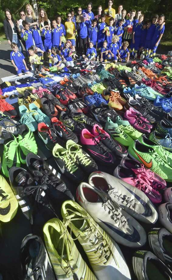 Woodbridge, Connecticut - Friday, May 11, 2018:  The Everson Soccer Club of Woodbridge, at the Everson Soccer Complex at the Connecticut Sports Center in Woodbridge, with its collection of soccer cleats and soccer equipment that will be sent to Brazilian children in need with the assistance ofCleats For Dreams. Photo: Peter Hvizdak / Hearst Connecticut Media / New Haven Register