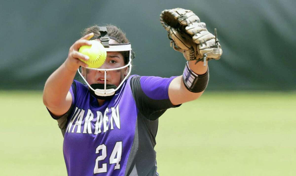 Annika Litterio allowed four hits in 12 innings and recorded 21 strikeouts in Warren's two wins.