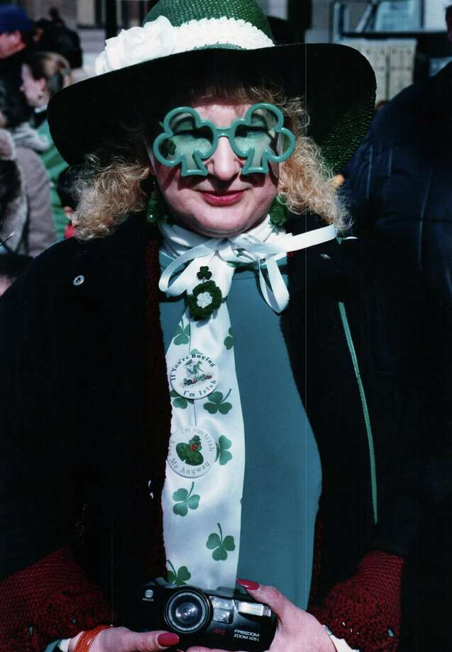 In this 1994 file photo Sandy Underhill was decked out for the Greater New haven St. Patrick's Day Parade Photo: Hearst Connecticut Media File Photo