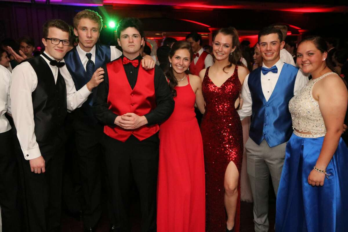 Trend: RedNew Milford High School held its junior/senior prom at the Amber Room Colonnade in Danbury on May 12, 2018. The senior class graduates June 23. Were you SEEN at prom?