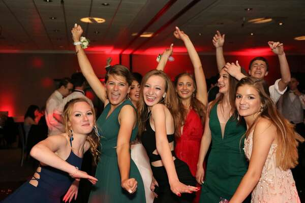 New Milford High School held its junior/senior prom at the Amber Room  Colonnade in