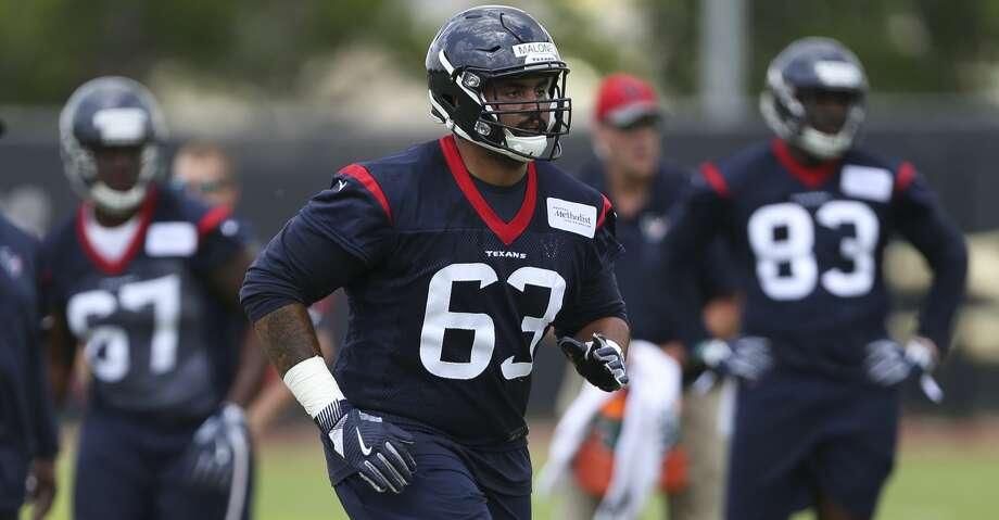 The Houston Texans rookie player K.J. Malone is photographed during a training at the 2018 Houston Texans Rookie Minicamp on Saturday, May 12, 2018, in Houston. ( Yi-Chin Lee / Houston Chronicle ) Photo: Yi-Chin Lee/Houston Chronicle