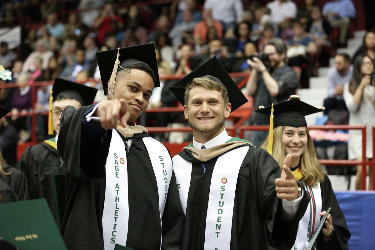 Were you Seen at The Sage Colleges' 101st Commencement at Houston Field House in Troy on May 12, 2018?
