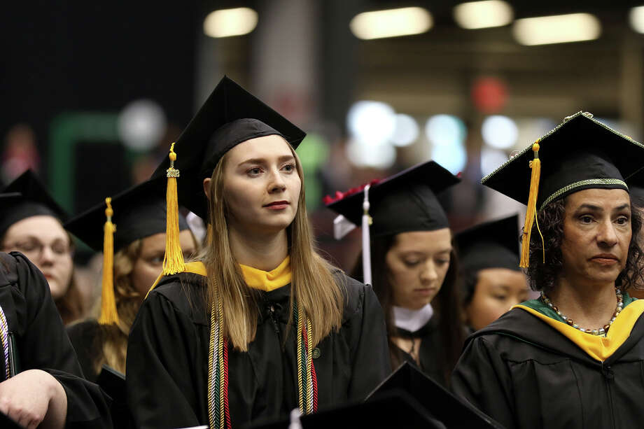 The Sage Colleges conferred 869 degrees and certificates at its 101st commencement held Saturday, May 12, 2018. Photo: Matt Milless For The Sage Colleges