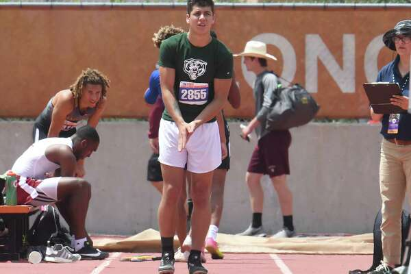 Little Cypress-Mauriceville's Christian Weatherly readies for the triple jump at the State Championships in Austin on Saturday, May 12. Weatherly placed sixth in the competition.   Photo taken Saturday, May 12, 2018 Guiseppe Barranco/The Enterprise