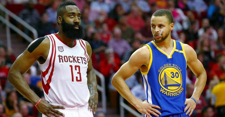 """The more James Harden praised the qualities that made the Warriors champions, the more he was willing to share his season-long conviction that for the Rockets, """"This is the year."""" Photo: Jon Shapley/Houston Chronicle"""