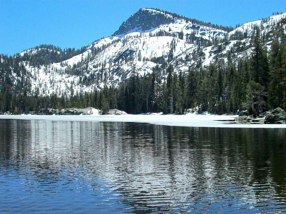 Ice out at Crags Lake, elevation 7,440 feet, on Meeks Creek Trail in northern Desolation Wilderness above Lake Tahoe, now passable with a few snowfields Photo: Tom Stienstra / Tom Stienstra / The Chronicle