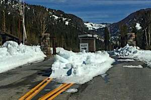 Tioga Road from Crane Flat to 9,943-foot Tioga Pass has been plowed clear, in Yosemite National Park and will open with parking areas, pullouts and shoulder areas are cleared.