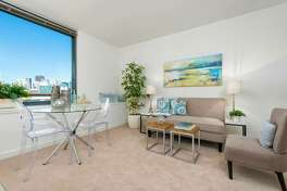 You can also live at 260 King in South Beach, where a 618 square foot studio runs $3200 a month. The bling here: in-unit laundry,  24-hour door person, b  usiness center,  fitness center with sauna, h  eated outdoor lap pool and two outdoor spas plus sun deck, a club  room with kitchen and terrace, and a p  rivate dog park.