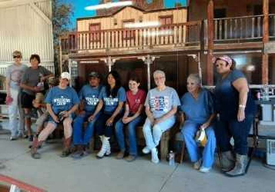 Members of the Conroe Noon Lions Club made their way to Kerrville, Texas for their annual work weekend at the Texas Lions Camp.  The crew worked at the equestrian barn cleaning saddles & tack, making repairs, painting and getting the facility ready for the 1,500 physically disable and diabetic children who will attend camp this summer. Photo: Submitted Photo