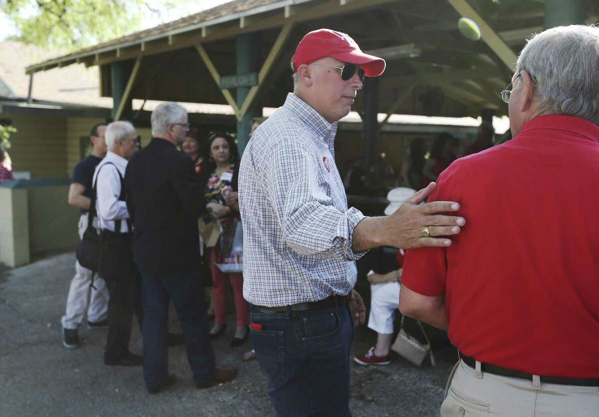 Congressional District 21 Republican candidate Chip Roy attends a GOP potluck barbecue candidate forum on Friday, May 11, 2018 at MacArthur Park. Roy is in a run-off against Matt McCall for the Republican ticket.
