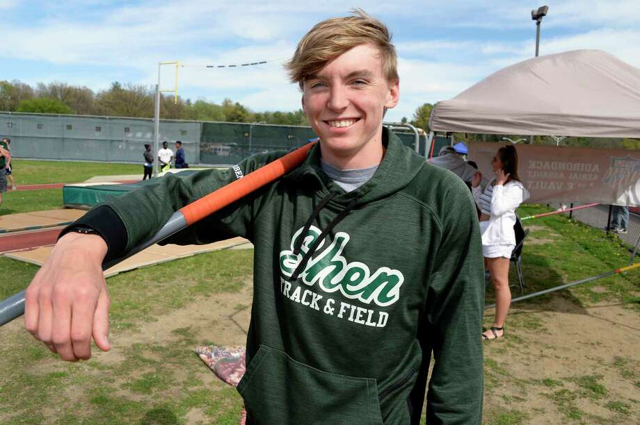 Shenendehowa pole vaulter Casey Gribben during the Shenendehowa Track and Field Invitational Friday May 11, 2018 in Clifton Park, NY.  (John Carl D'Annibale/Times Union) Photo: John Carl D'Annibale / 20043756A