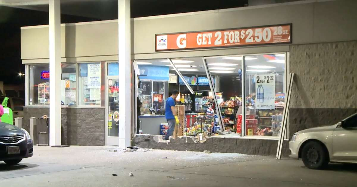 Burglars took an ATM from a East Houston convenience store on 12300 East Freeway on Monday, May 14, 2018.