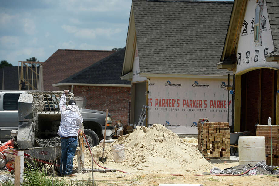 Work continues on homes under construction in the Copper Point subdivision in Lumberton.  Photo taken Friday 5/11/18 Ryan Pelham/The Enterprise Photo: Ryan Pelham / ©2018 The Beaumont Enterprise/Ryan Pelham
