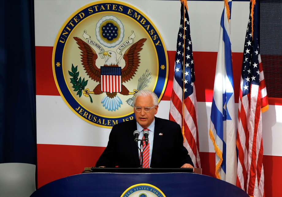 US ambassador to Israel David Friedman delivers a speech during the opening of the US embassy in Jerusalem on May 14, 2018. - The United States moved its embassy in Israel to Jerusalem after months of global outcry, Palestinian anger and exuberant praise from Israelis over President Donald Trump's decision tossing aside decades of precedent. Photo: MENAHEM KAHANA/AFP/Getty Images