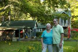 Becky Meier and Bob Connors in front of their home in Canaan, NY. (Photo provided)