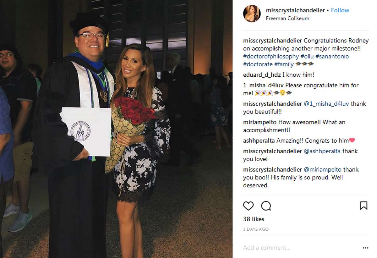 misscrystalchandelier: Congratulations Rodney on accomplishing another major milestone!! #doctorofphilosophy #ollu #sanantonio #doctorate #family