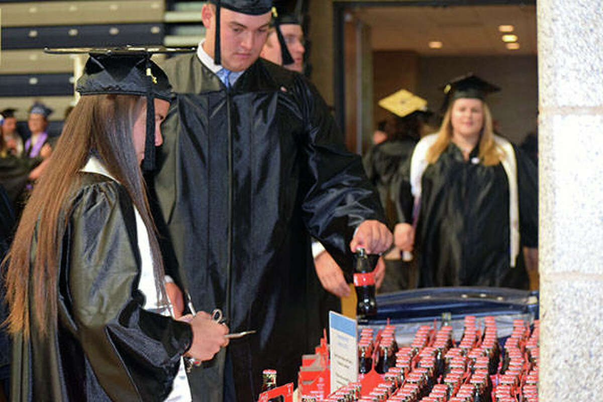 Nearly 220 Illinois College students took part Sunday in commencement ceremonies at the college.