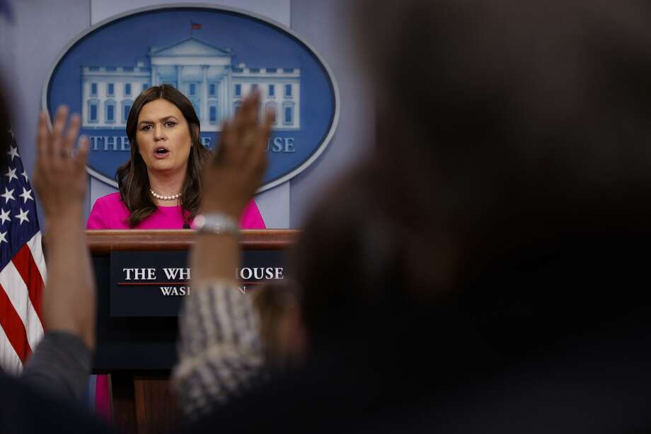 White House press secretary Sarah Huckabee Sanders said May 9 that Trump's campaign promise about infrastructure is unlikely to result in legislation. Photo: Evan Vucci / Associated Press