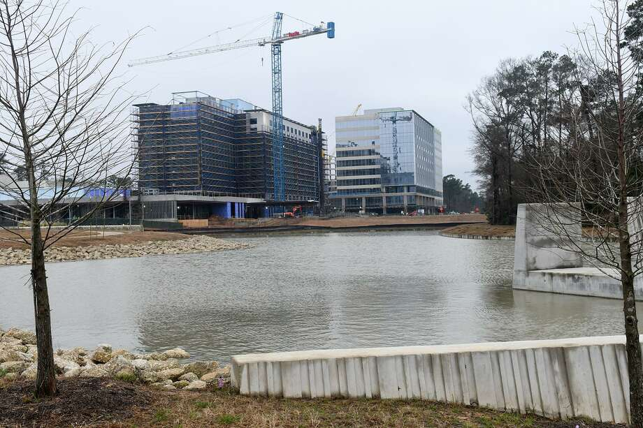 A new full-service hotel in Springwoods Village is under construction - Marriott CityPlace. (Photo by Jerry Baker/Freelance) Photo: Jerry Baker, Freelance / For The Chronicle / Freelance