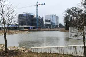 A new full-service hotel in Springwoods Village is under construction - Marriott CityPlace. (Photo by Jerry Baker/Freelance)