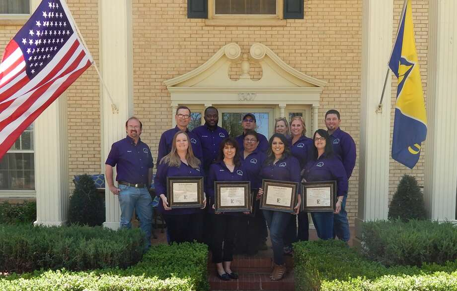 Members of the 34th graduating class of Leadership Plainview celebrate their accomplishments during special ceremonies at the President's House B&B. Graduates include Kim Villanueva (front left), Robin Straley, Vickie Rosales, Brenda Ramirez, Nicole Steffe, chairman Shane Harrell (back left), Kerry McCormack, Chie Fred Awumah, Uriel Villa, Tonya Keesee, Meredith Hatch and Timothy Schniers. Not shown are Brent Falkenberg and Kristi Mull-Horan. Photo: Courtesy Photo